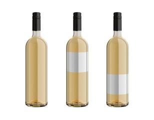 weißweinflaschen mit schraubverschluss freigestellt