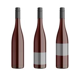 rotweinflaschen mit schraubverschluss freigestellt