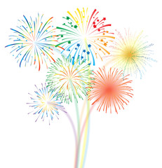 Fireworks display illustration
