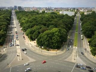 Panorama von der Spitze der Siegessäule in Berlin