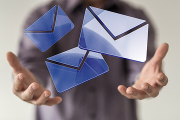 mail hand 3d