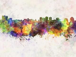 Halifax skyline in watercolor background