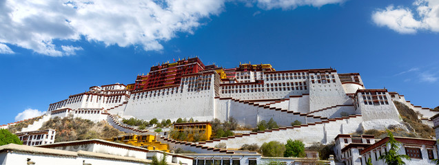 Potala palace panorama in Lhasa, Tibet