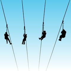 Zip Line Race
