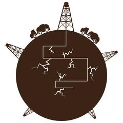 Fracking Process Globe