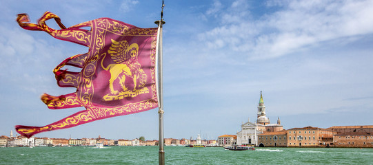 flag of Venetian republic and Venezia