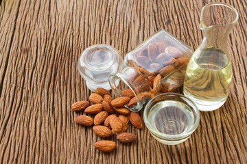 Almond oil and almonds seed for beauty spa and treatment