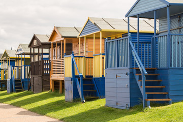 Colourful Beach Huts in Whitstable