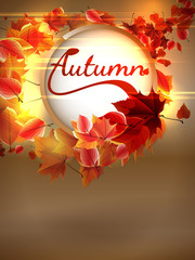Autumn background with lights. plus EPS10