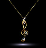 pendant with a treble clef - 68968577