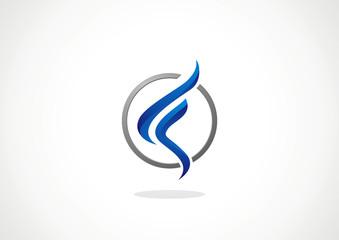 Finance Business circle graph vector logo design template