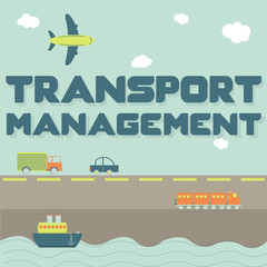 """Transport management"" phrase and means of transportation"