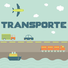 """Transporte"" word and means of transportation"