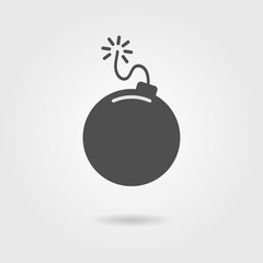 bomb icon with shadow