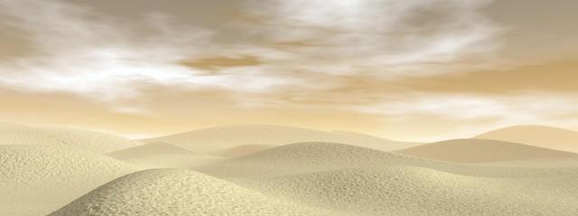 Sand desert - 3D render