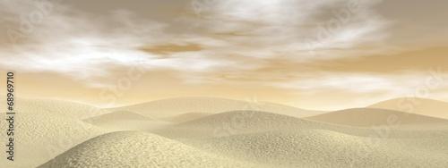 Naklejka Sand desert - 3D render