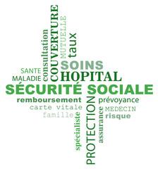 Nuage de mots sur le thème de la sécurité sociale