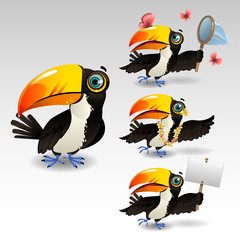 cartoon toucan bird