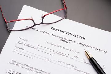 Consortium Letter