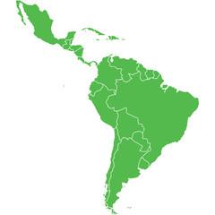 mappa america latina