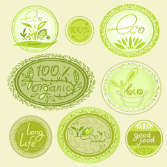 set of labels for eco products