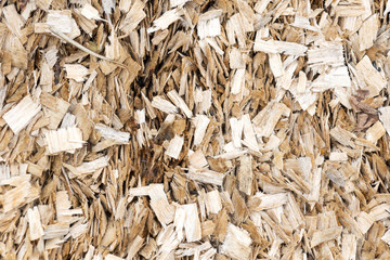 Fresh wood sawdust texture background.