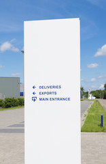 warehouse entrance sign