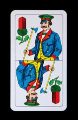 Spielkarten Könige im Spiel - Eichl König