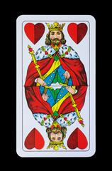 Spielkarten Könige im Spiel - Herz König