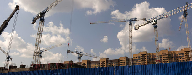 Crane and building construction