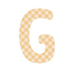 Orange squares pattern alphabet G