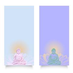 Buddha Hintergründe blau hochkant