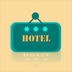 Hotel Banner With Three Stars