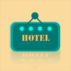 Hotel Banner With Four Stars
