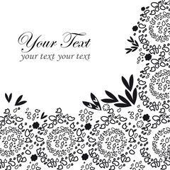 Black lace background with a place for text