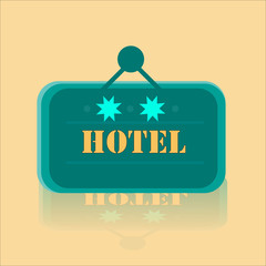 Hotel Banner With Two Stars