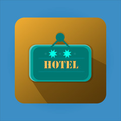 Flat Design of Hotel Banner With Two Stars