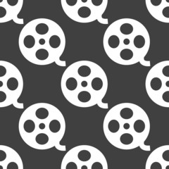 Film web icon. flat design. Seamless pattern.