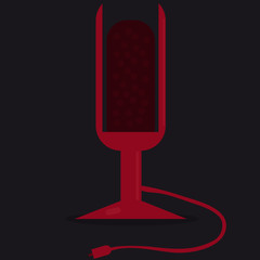 Red Icon of Microphone