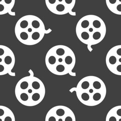 Film web icon. flat design. Seamless pattern.