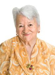 Portrait of old smiling woman