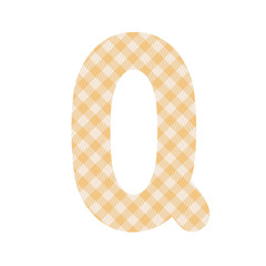 Orange squares pattern alphabet Q