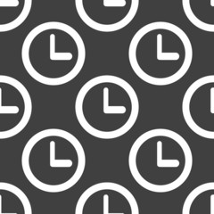 Watch web icon. flat design. Seamless pattern.
