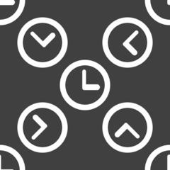 Watch web icon. flat design. Seamless pattern.