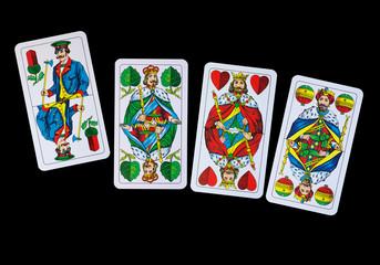 Spielkarten Könige im Spiel