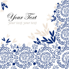 Blue lace background with a place for text
