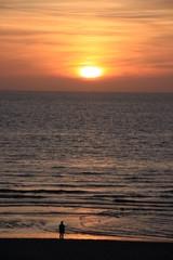 Betrachter Sonnenuntergang
