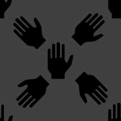 hand web icon.flat design. Seamless pattern.