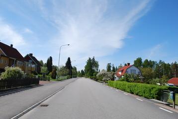 Dorfstraße in Schweden