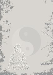 Buddha Hintergrund Stein